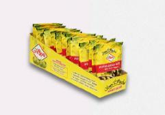 20 pc Box Pouch Pitted Green Olives with Chili Pepper