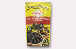Single Pouch Crespo Pitted Dry Black Olives