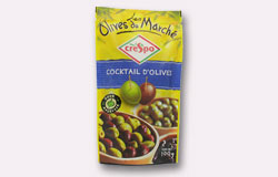 Single Pouch Crespo Pitted Mixed Cocktail Olives Pouch